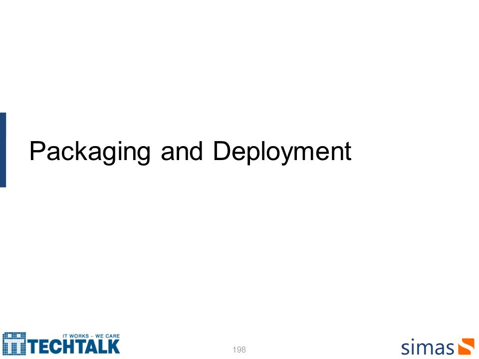 Packaging and Deployment