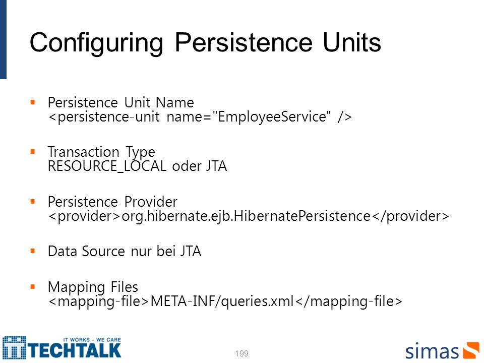 Configuring Persistence Units