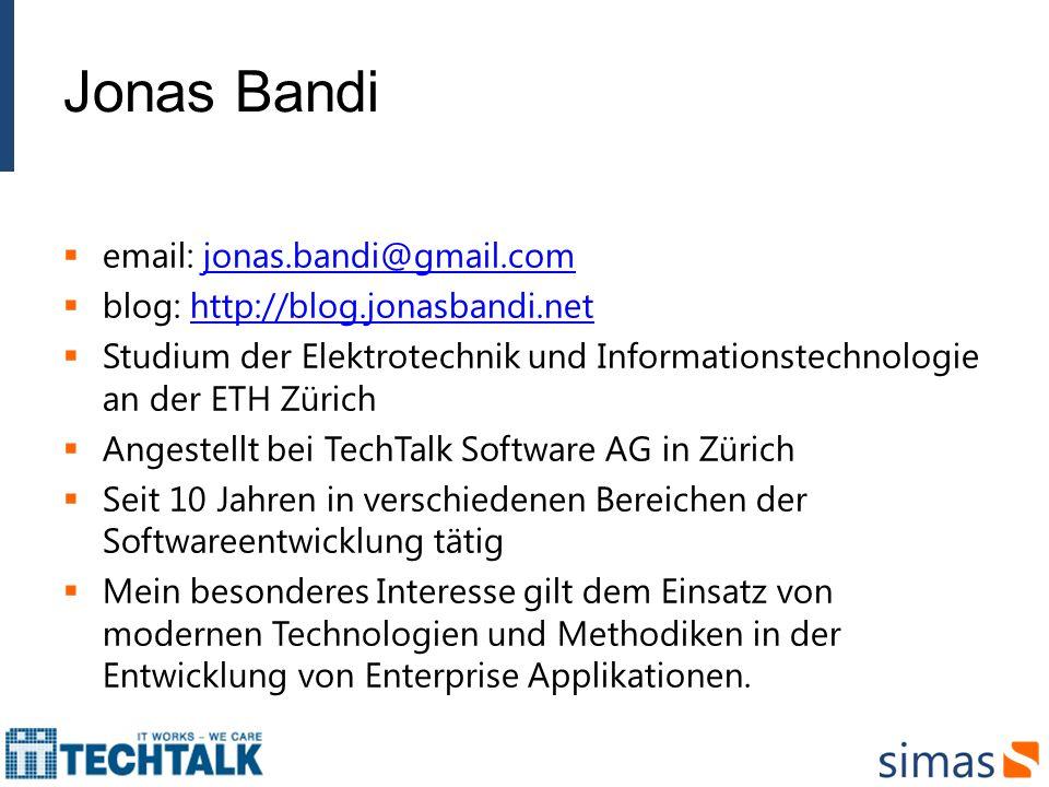 Jonas Bandi email: jonas.bandi@gmail.com