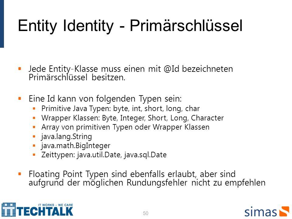 Entity Identity - Primärschlüssel