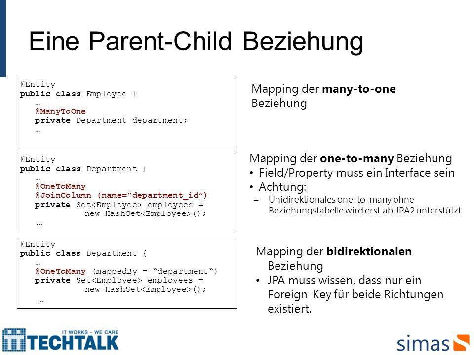 Eine Parent-Child Beziehung