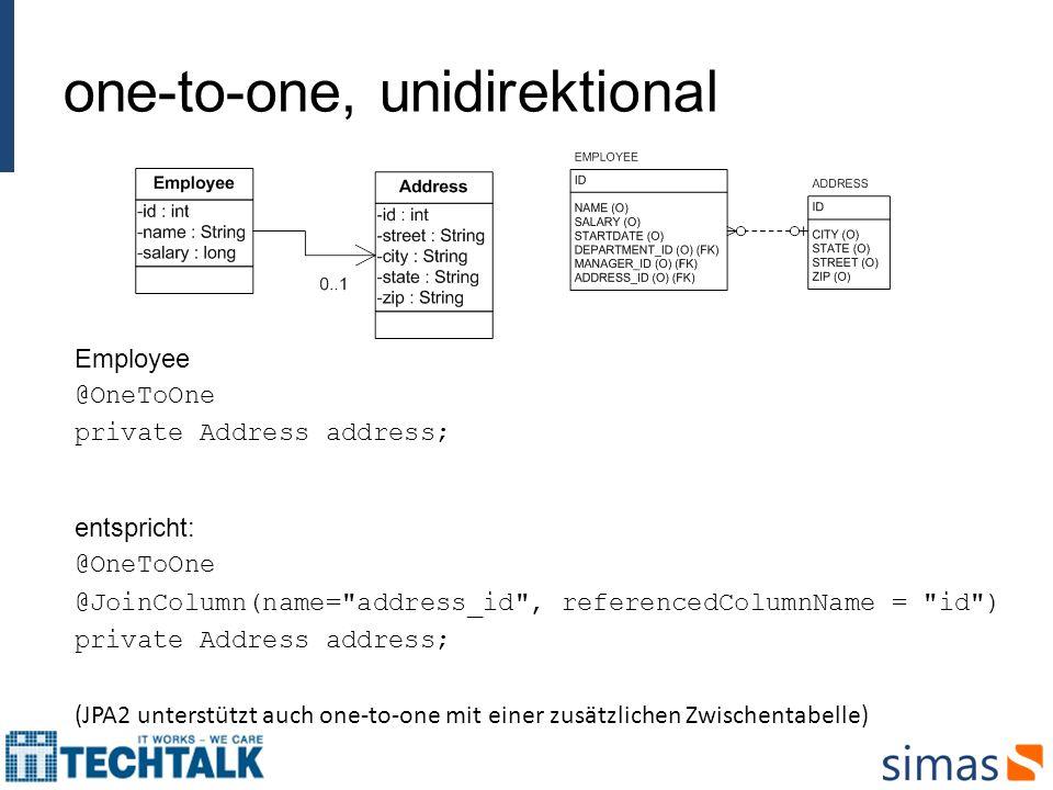 one-to-one, unidirektional