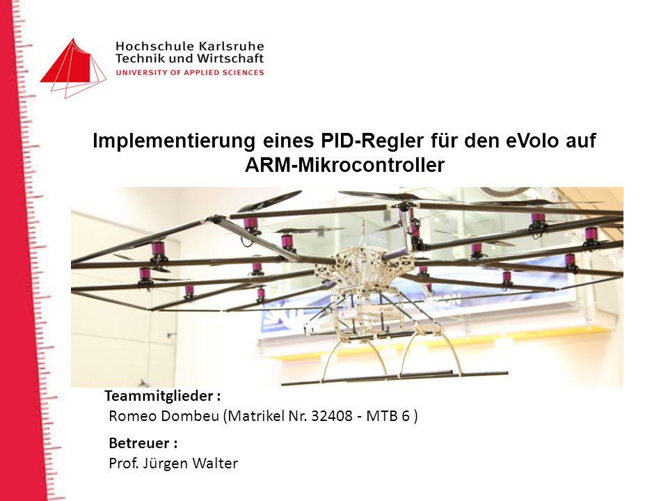 Implementierung eines PID-Regler für den eVolo auf ARM-Mikrocontroller