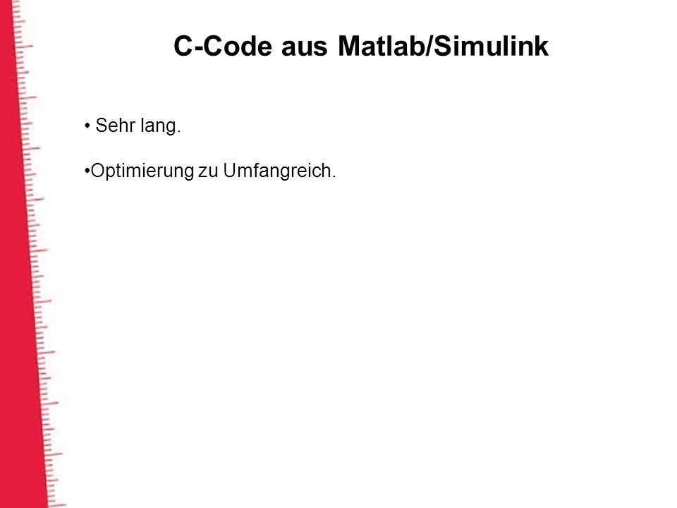 C-Code aus Matlab/Simulink