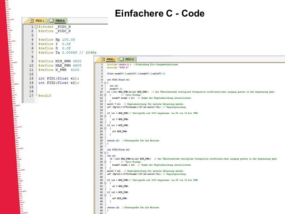 Einfachere C - Code