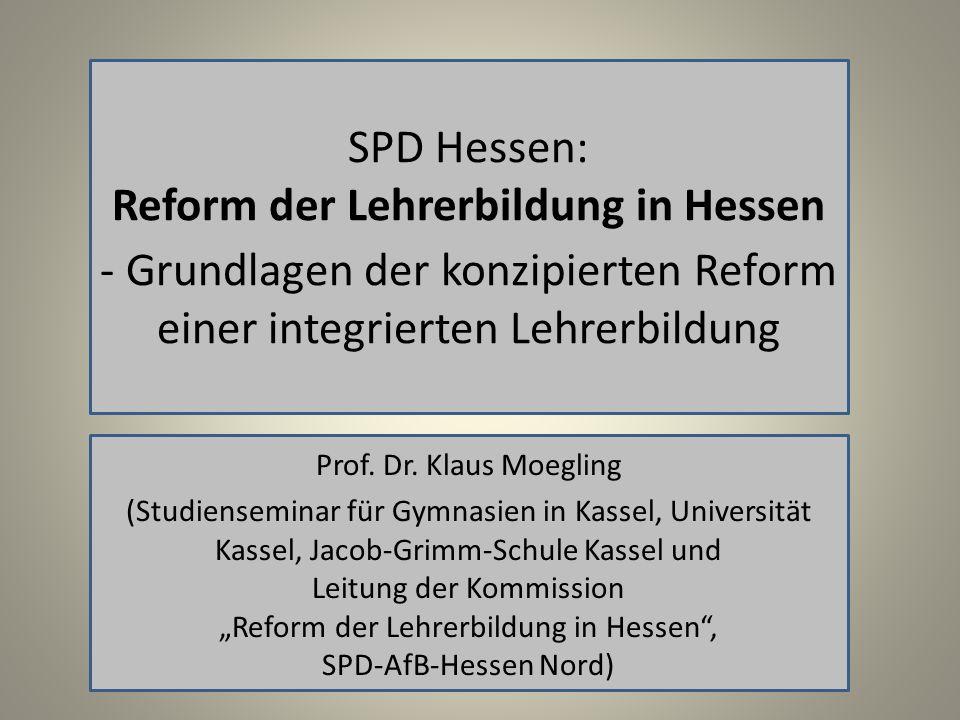 Reform der Lehrerbildung in Hessen