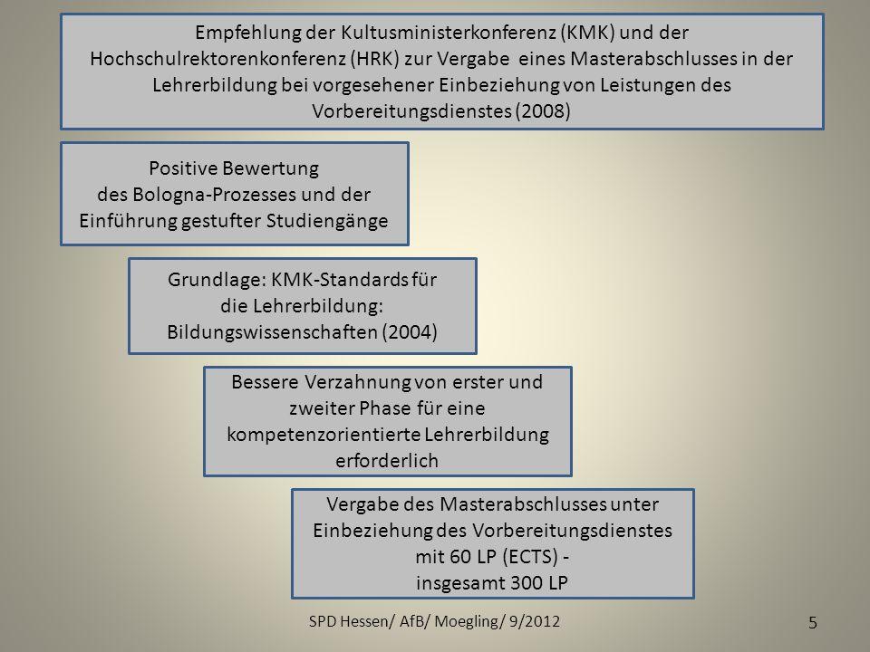 des Bologna-Prozesses und der Einführung gestufter Studiengänge