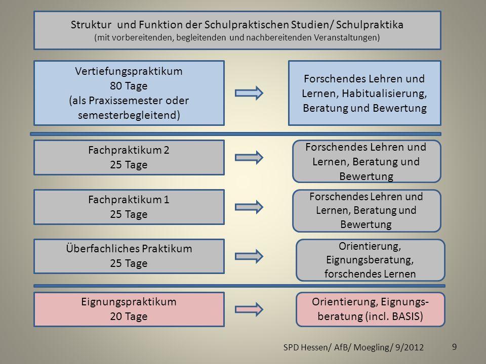 Struktur und Funktion der Schulpraktischen Studien/ Schulpraktika
