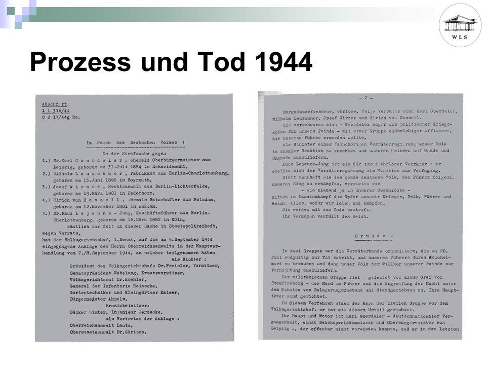 Prozess und Tod 1944