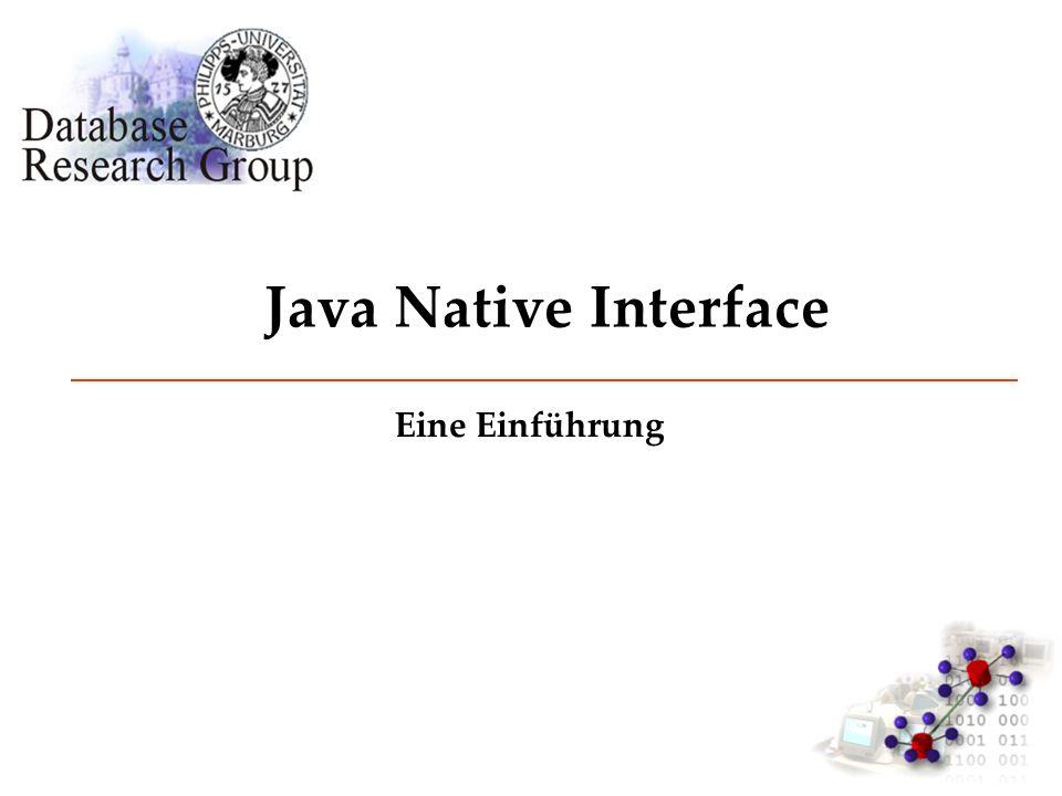 Java Native Interface Eine Einführung