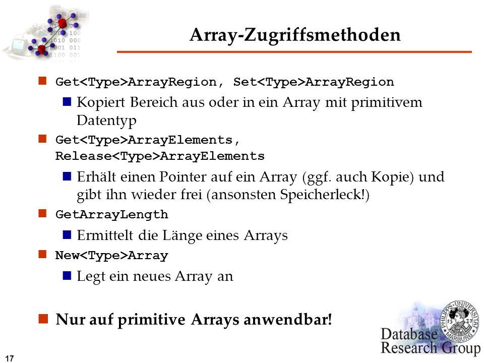 Array-Zugriffsmethoden