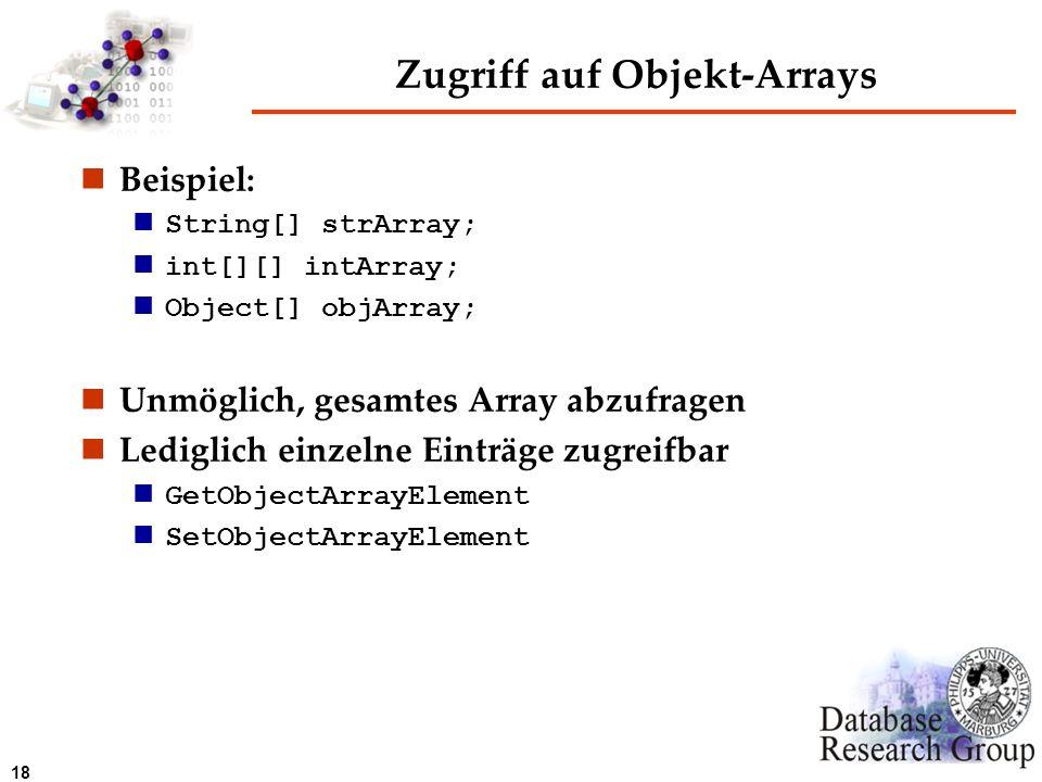 Zugriff auf Objekt-Arrays