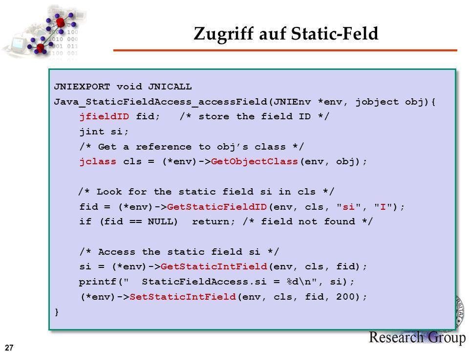Zugriff auf Static-Feld