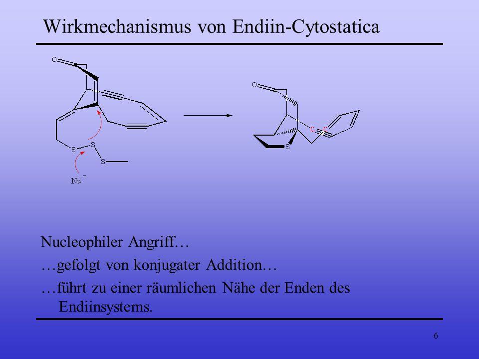 Wirkmechanismus von Endiin-Cytostatica