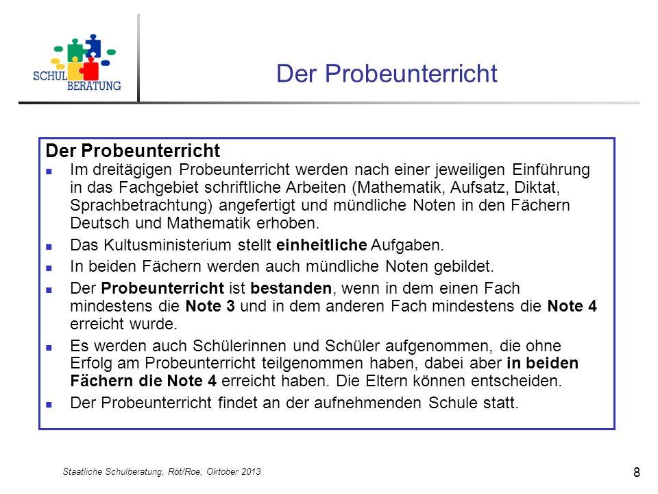 Staatliche Schulberatung, Röt/Roe, Oktober 2013