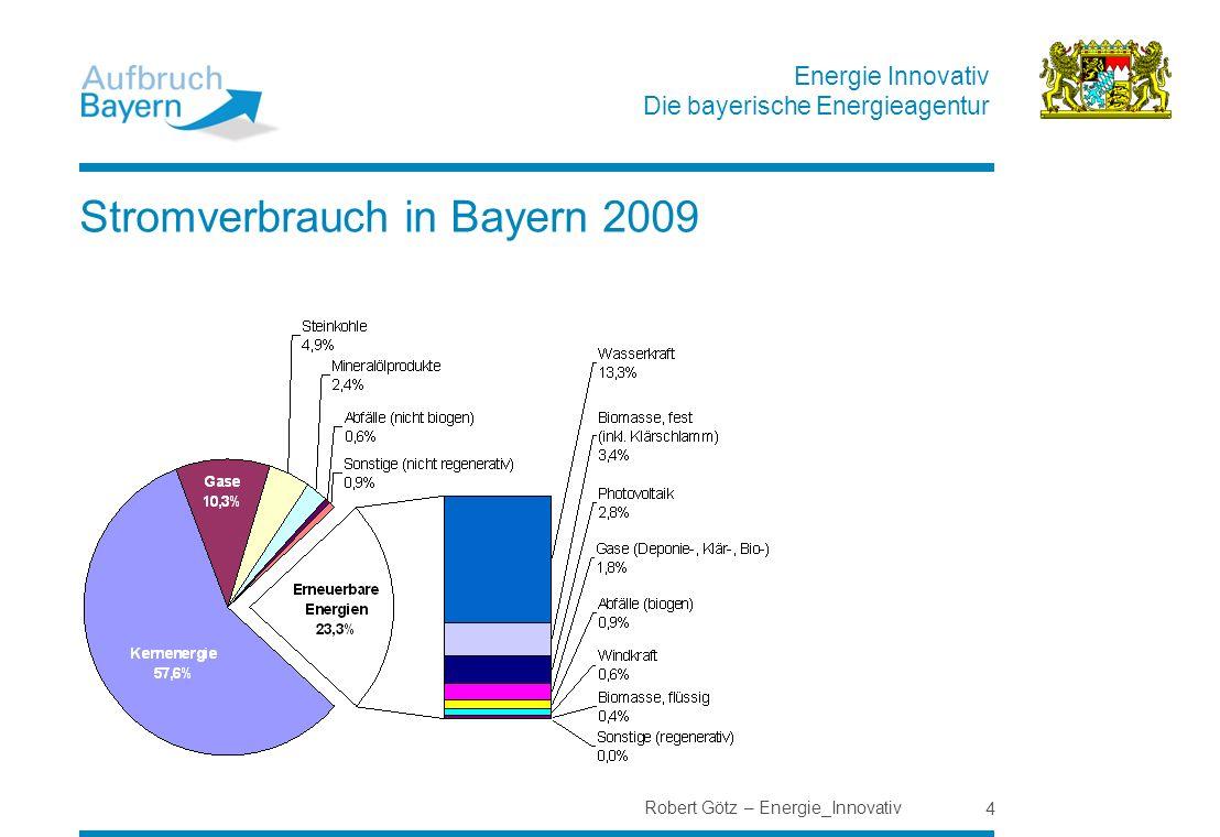 Stromverbrauch in Bayern 2009