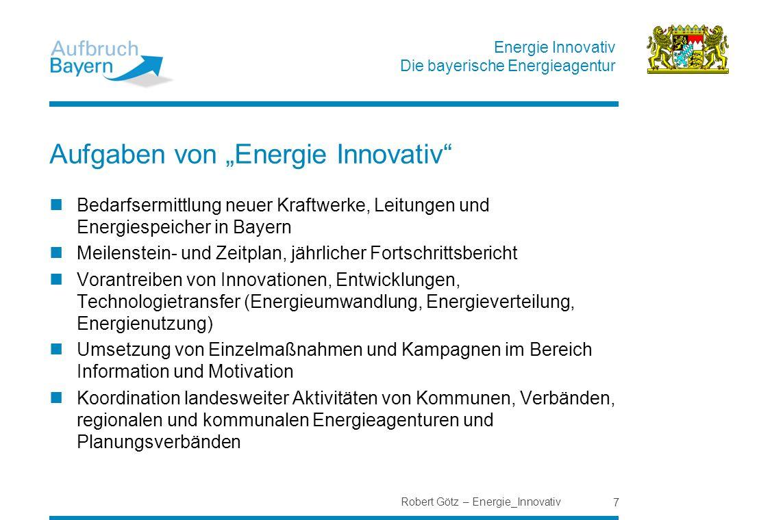 """Aufgaben von """"Energie Innovativ"""