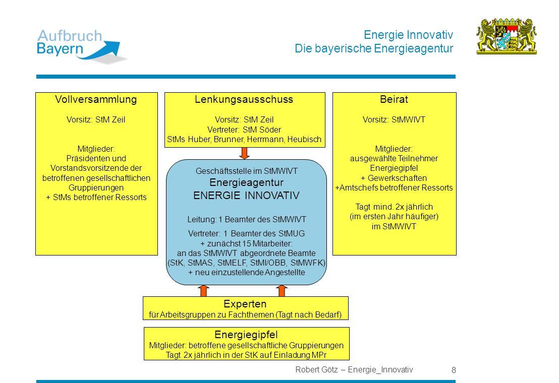 Vollversammlung Lenkungsausschuss Beirat Experten Energiegipfel 8