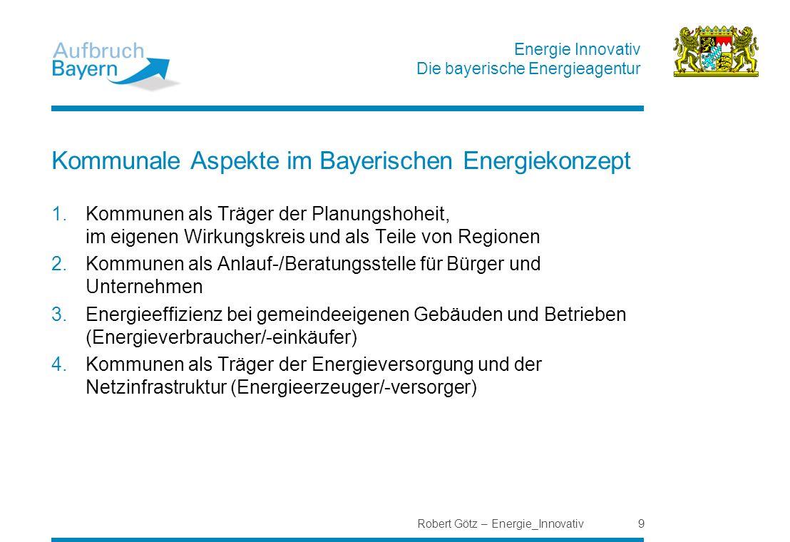 Kommunale Aspekte im Bayerischen Energiekonzept