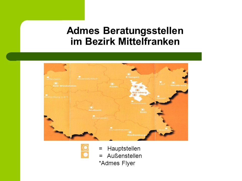Admes Beratungsstellen im Bezirk Mittelfranken