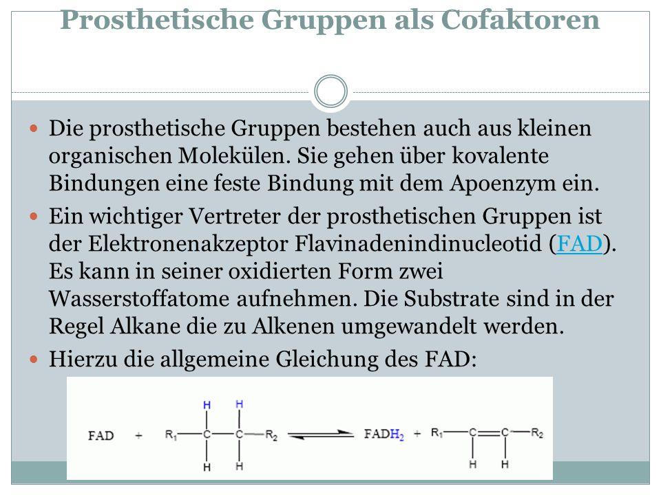 Prosthetische Gruppen als Cofaktoren