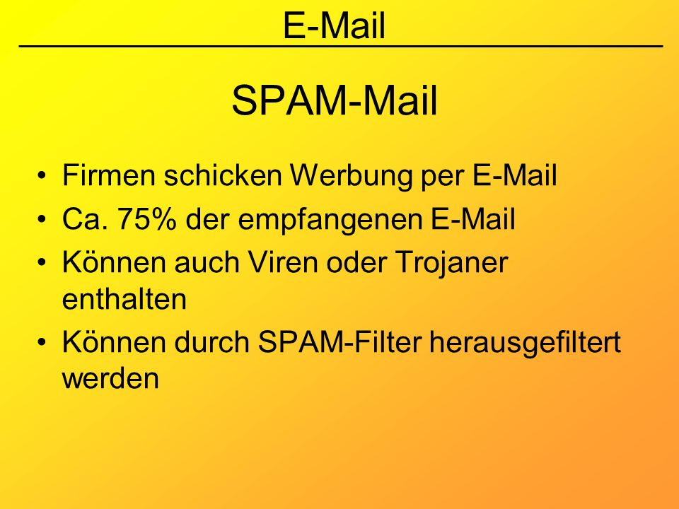 SPAM-Mail Firmen schicken Werbung per E-Mail