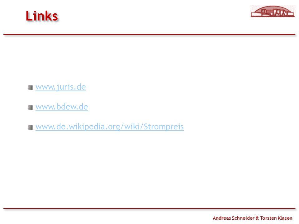 Links Handouts www.juris.de www.bdew.de