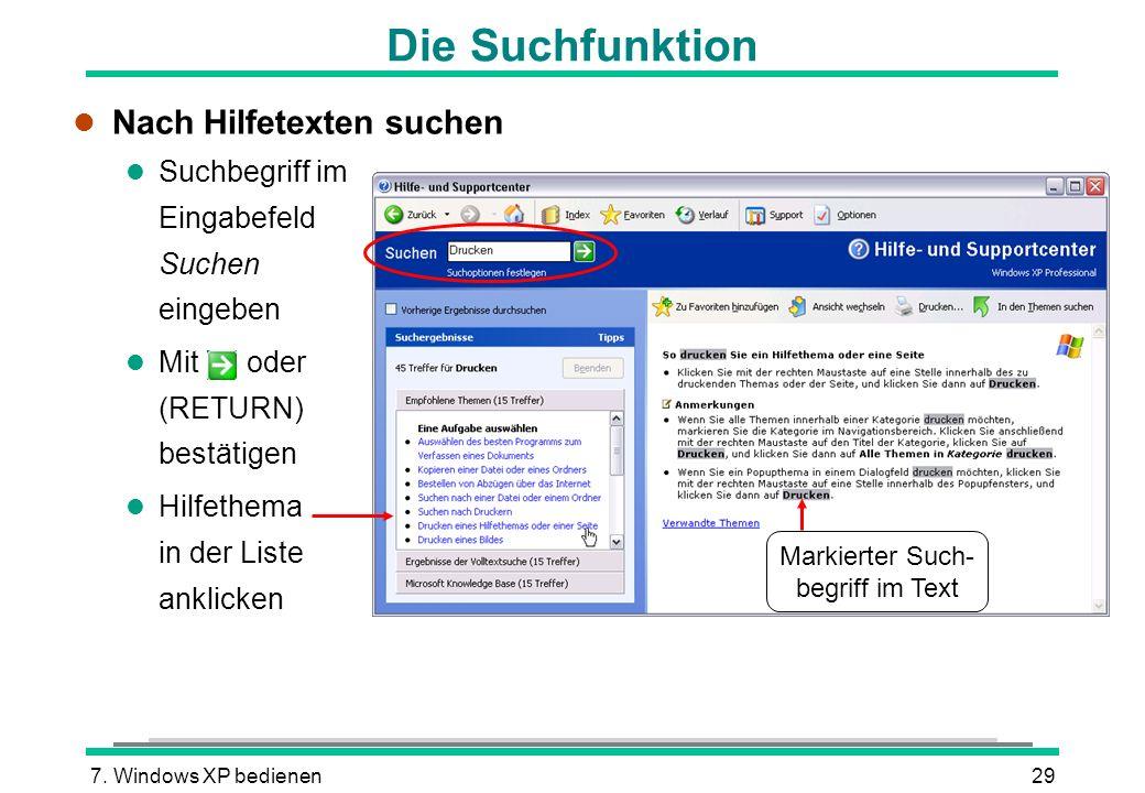 Markierter Such-begriff im Text