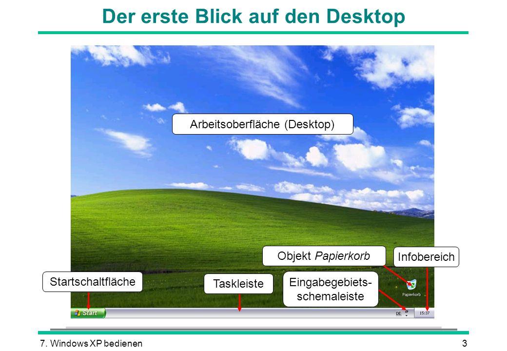 Der erste Blick auf den Desktop