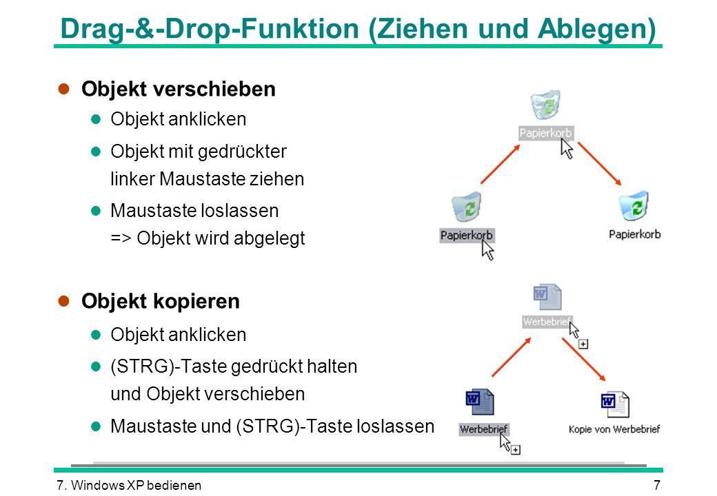 Drag-&-Drop-Funktion (Ziehen und Ablegen)