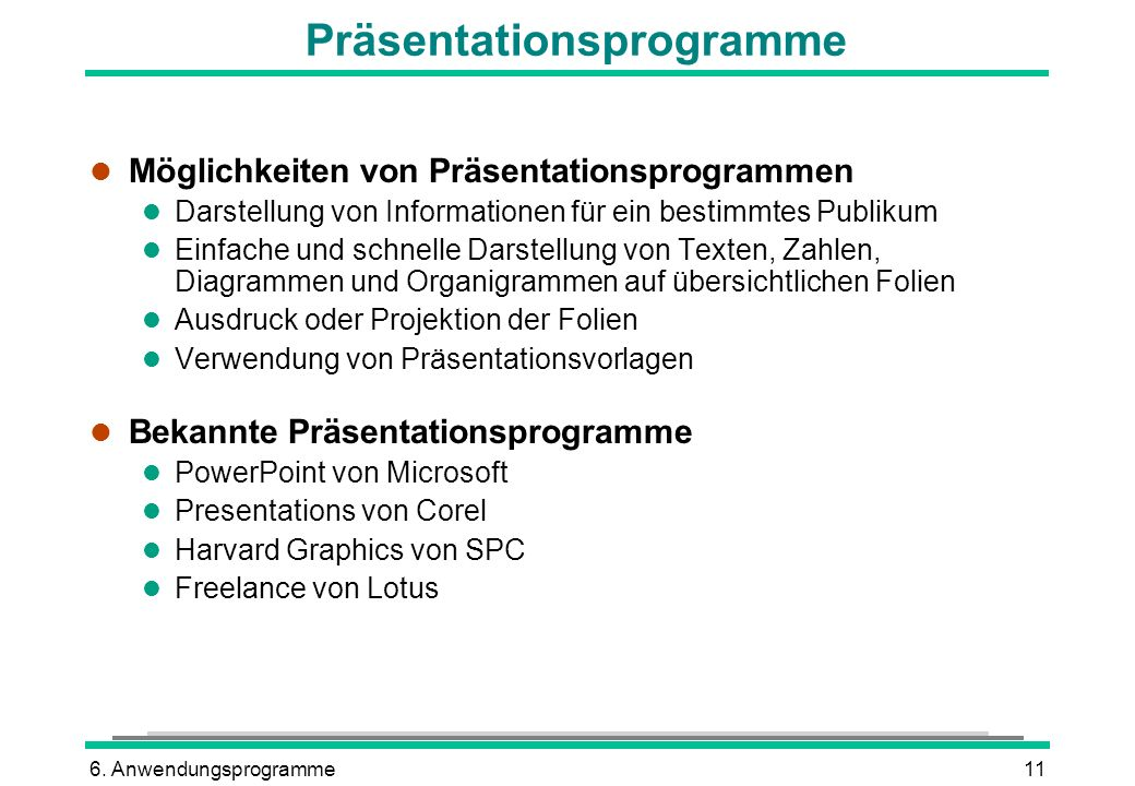 Präsentationsprogramme