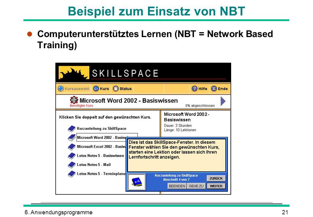 Beispiel zum Einsatz von NBT