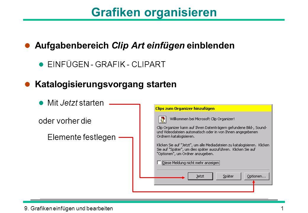 Grafiken organisieren