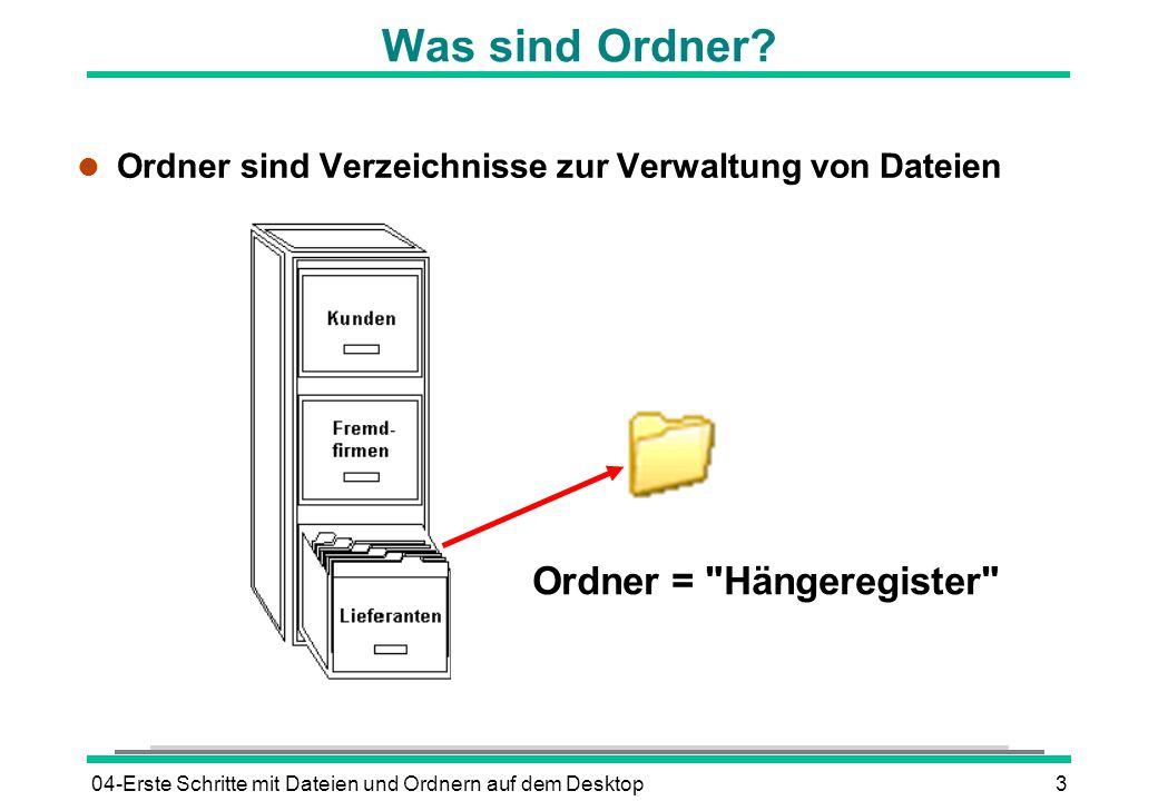 Ordner = Hängeregister