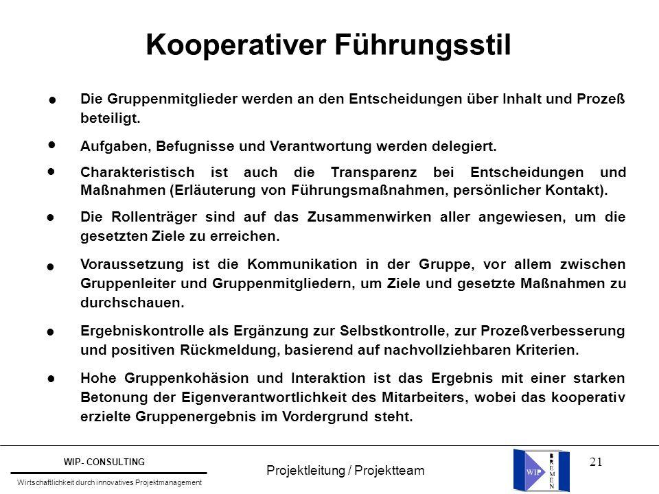 Kooperativer Führungsstil