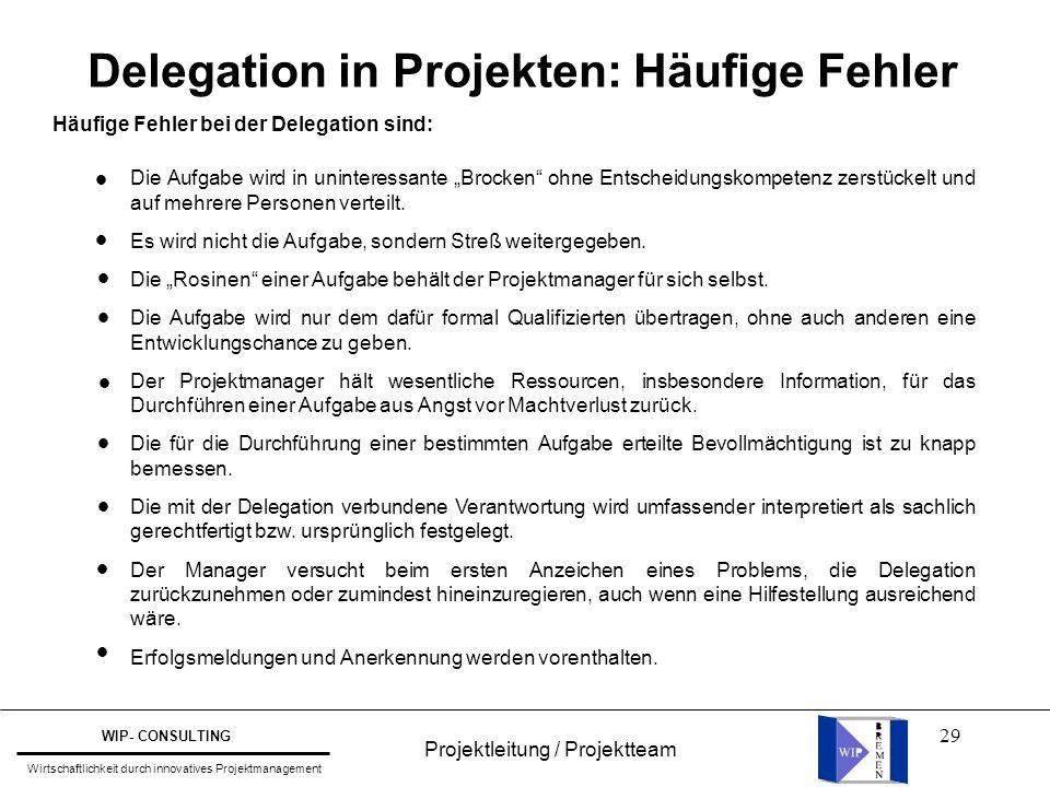 Delegation in Projekten: Häufige Fehler