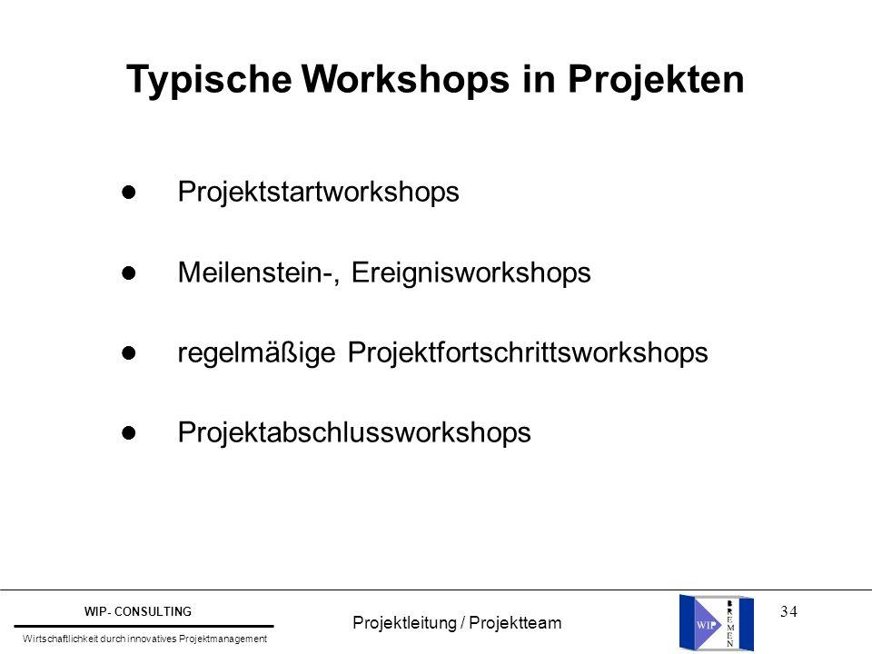 Typische Workshops in Projekten