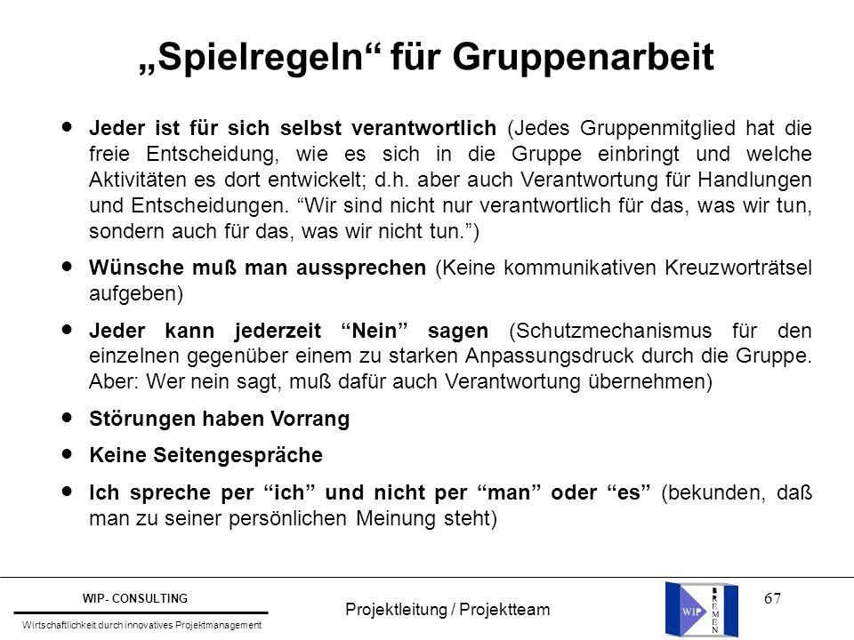 """""""Spielregeln für Gruppenarbeit"""