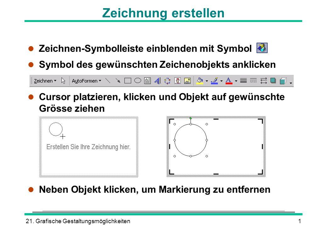 Zeichnung erstellen Zeichnen-Symbolleiste einblenden mit Symbol