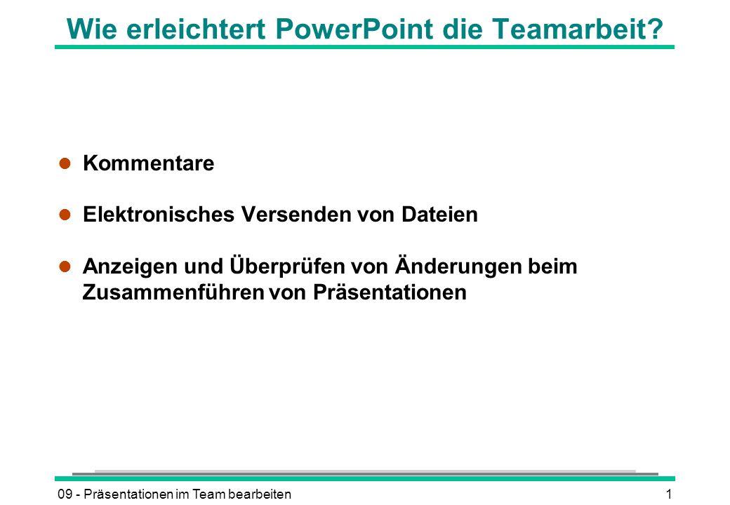 Wie erleichtert PowerPoint die Teamarbeit