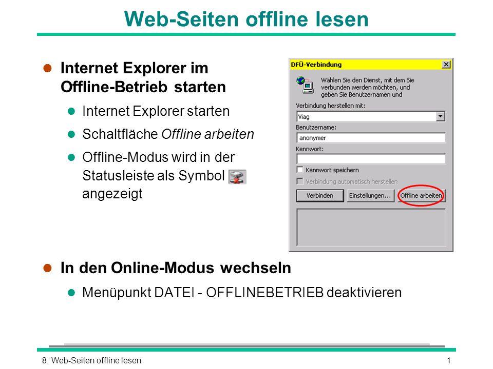 Web-Seiten offline lesen