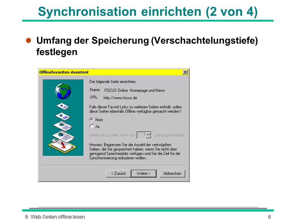 Synchronisation einrichten (2 von 4)