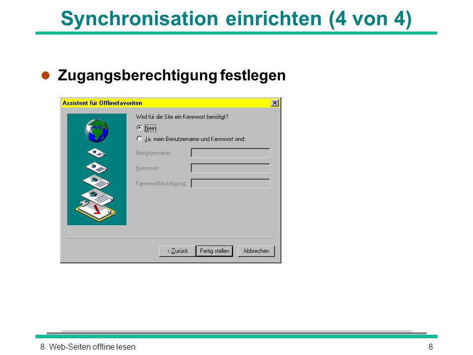 Synchronisation einrichten (4 von 4)