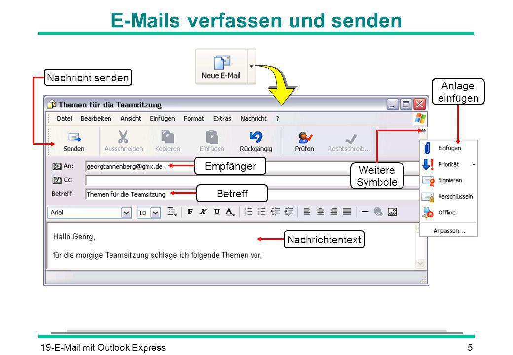 E-Mails verfassen und senden