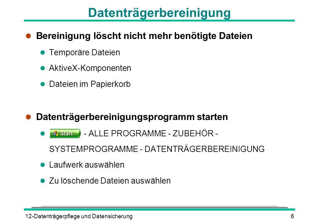 Datenträgerbereinigung