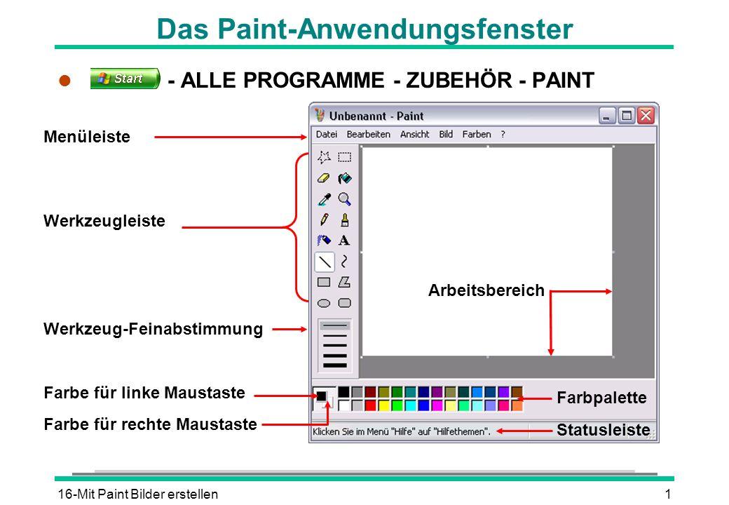 Das Paint-Anwendungsfenster