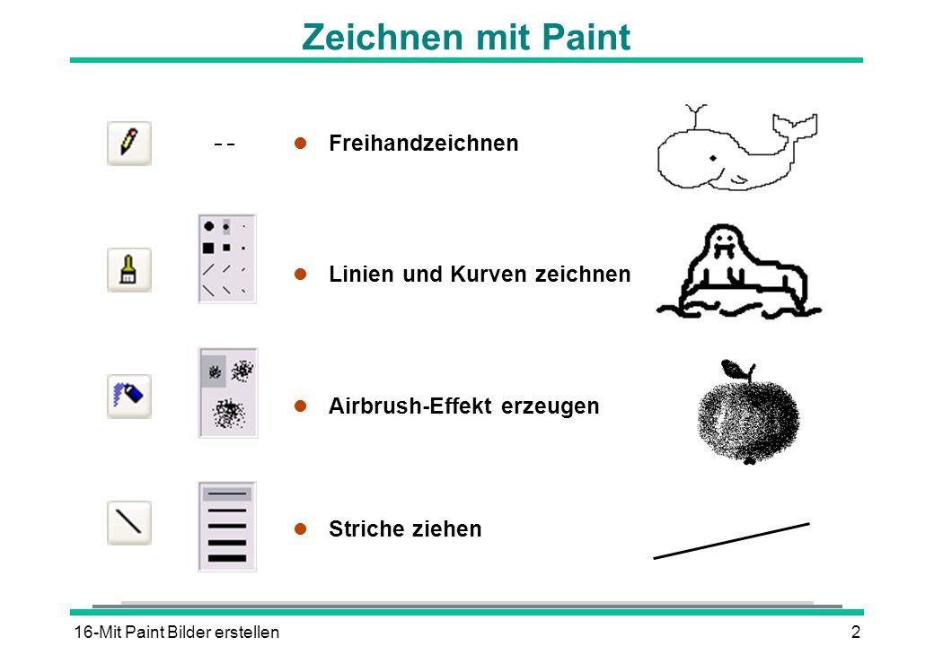 Zeichnen mit Paint Freihandzeichnen Linien und Kurven zeichnen