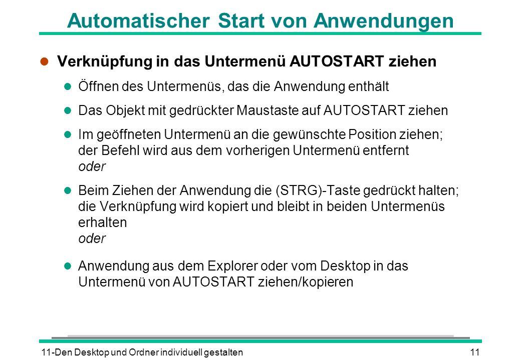 Automatischer Start von Anwendungen