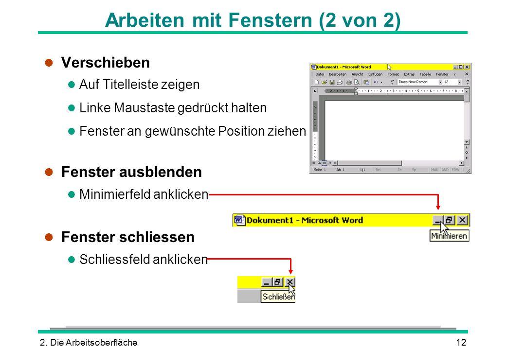 Arbeiten mit Fenstern (2 von 2)