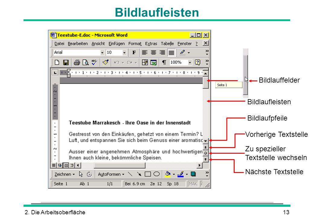 Bildlaufleisten Bildlauffelder Bildlaufleisten Bildlaufpfeile